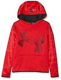 Under Armour 男孩保暖上衣,红色/黑色,M 码