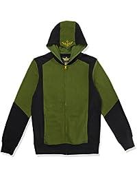 THE LEGEND OF ZELDA 绿色 triforce 连帽拉链黑绿色