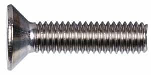 Hillman Group 44526 M5-0.80 x 25 公制不锈钢平头螺钉,10 支装 44526