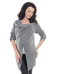 Purpless 孕妇 怀孕和哺乳开衫 针织衫 9005