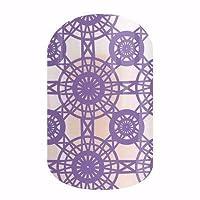 Jamberry Nail Wraps - 设计钩子后面 - 全套 - 淡紫色钩针编织透明 - 2016 年 2 月款样式盒