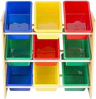Prego Mej9 储物柜,带 3 个搁架,塑料,多色,均码