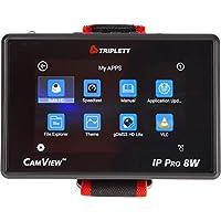Triplett CamView IP Pro-8W 4 英寸 IPS 触摸屏 NTSC/PAL/HD-CVI 3.0/AHD 3.0/HD-TVI 3.0 相机测试仪,带 PoE 和网络测试 (8066)