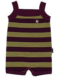 Anna Nicola 横条纹吊带裤 I-21863 C05 日本制造 紫色 60