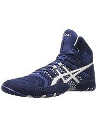 ASICS Dan Gable Ultimate 4 男士摔跤鞋 Estate 蓝色/银色 6.5 M US