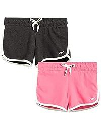 Reebok 女童法国厚绒布运动短裤(2 件装)