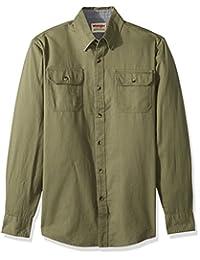 WRANGLER 男式长袖经典梭织衬衫