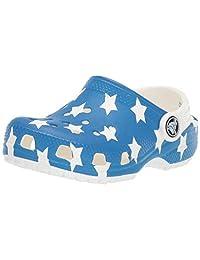 Crocs 卡骆驰儿童经典美国国旗洞鞋