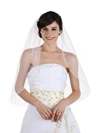 1T 1 层平边新娘婚礼头纱大教堂长度 274.32cm