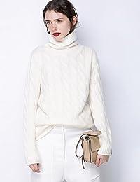 2017秋冬新款羊绒衫高领毛衣女 加厚宽松麻花套头针织打底衫