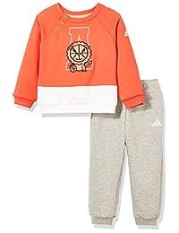 adidas Kids 阿迪达斯 婴儿 婴童针织套服 IN F CREW SET2
