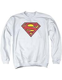 超人喷枪盾牌中性成人圆领运动衫男女皆宜