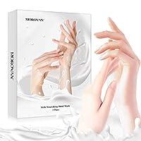 护手霜,手乳保湿面膜,适用于粗糙和干燥皮肤,滋养软化护手霜适用于干裂手部,3 双装手部水疗护理面膜,用于死皮保湿,女士护手霜
