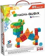 Magna-Qubix 85 件套透明彩色套装 - 原创获*磁性 3D 积木形状 - 创意与教育产品 - 经 STEM 认证