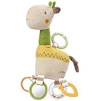 Fehn 059069 活动长颈鹿 带环 Motorics 玩具挂在有趣的吊坠上,多色