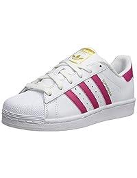 adidas 阿迪达斯 Originals Superstar 中性款 儿童运动鞋 White Pink White 39 1/3 EU