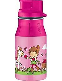 Alfi 5377100060 元素不锈钢饮水瓶 (0.6L) 猫/狗粉色 Farm Rosa 7x7x21 cm 5377.162.040