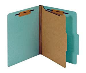 Pendaflex 分类文件夹,标准,1 个隔层,粘合紧固件,2/5 切片,浅蓝色,字母尺寸,100 EA/CT (PU41 LBL)