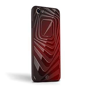 iPhone 手机保护壳奢华时尚、有趣、创意、面向设计的奢华手机壳LUX-I8MGM-STRIPES1 SQUARE STRIPES iPhone 8/7 Magma(变色)