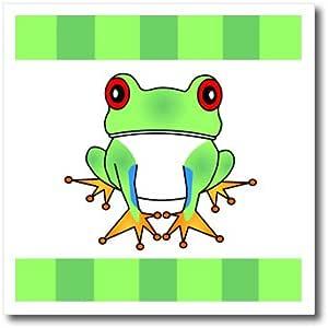Janna Salak Designs 林地生物 - 树蛙与条纹图案 - 热烫转印 6-Inch ht_6105_2