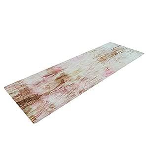 Kess InHouse Suzanne Carter Florian 瑜伽运动垫,粉色,182.88 x 60.96 厘米