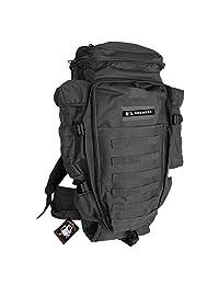 SHENKEL 多功能 背包 大容量 56L-75L 生存游戏 装备 背包 商店 系统 对应 黑色