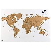 Idena 磁性板 60 x 40 厘米世界地图,带标签和刮擦配件
