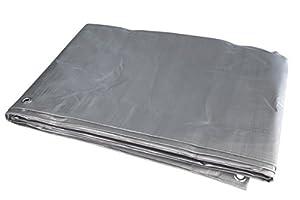 Windhager 防水油布 GEOTEX,帆布油布,双色涂层:绿色 / 银灰色,由机造织物制成,180克 / 平方米,  多种颜色 3 x 4 m