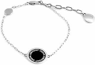 Marc Jacobs Logo Disc Enamel 珐琅 手链 黑色 × 银色 Black / ARGENTO M0008540-068