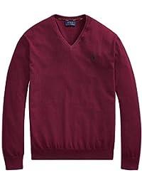 ralph lauren 男式 POLO 衫 V 领比马棉小马标志毛衣