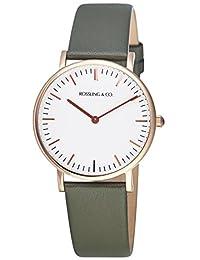 Rossling & Co. 石英男女适用手表 Classic 36mm - Forest - RO-005-009 (亚马逊进口直采, 加拿大品牌)