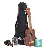 Kala Satin 红褐色尤克里里里琴,带袋、绑带、琴弦和调音器KA-15S-BNDL 高音