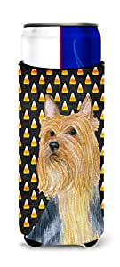 Silky Terrier Candy Corn Halloween Portrait Michelob Ultra Koozies for slim cans LH9057MUK 多色 Slim