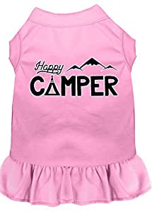 Happy Camper 丝网印花狗狗连衣裙 浅粉色 3X-Large