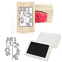 Bassoon Fingering Rubber Stamp and Pad
