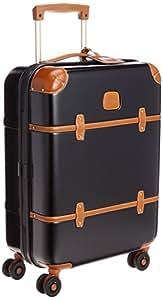 Bric's Bellagio系列 中性 时尚复古拉杆行李箱 BBG08301.902 黑色/干邑色修边 21寸(亚马逊进口直采,意大利品牌)