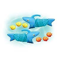 Melissa & Doug Sunny Patch 鲨鱼Spark水池捕鱼游戏,带2张网和6条鱼可捕