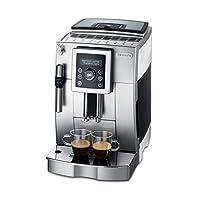 De'Longhi 德龙 ECAM 23.420.SW 全自动咖啡机(数字显示屏 专业起泡喷嘴 圆锥研磨机13级 可拆卸冲泡组 2杯功能)银色/白色