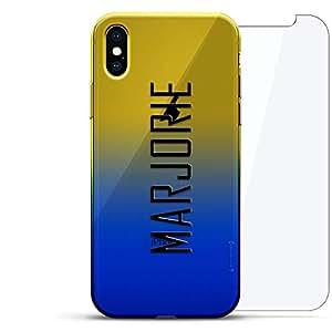 Luxendary 渐变系列 360 套装:透明超薄硅胶保护套 + 适用于 iPhone Xs Max 的钢化玻璃(6.5 英寸)LUX-IMXCRM2B360-NMMARJORIE2 NAME: MARJORIE, MODERN FONT STYLE 蓝色(Dusk)