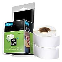 DYMO LW 邮寄地址标签 标签 标签打印机,白色,1-1/8 英寸 x 3-1/2 英寸,2 卷 260 (30572) 地址标签 2 Rolls of 260 白色