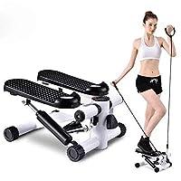 LIANG 女士和男士健身楼梯步进器,迷你步进健身有氧运动训练器,高度可调节步进扭转机,步进锻炼设备,带显示器和阻力带