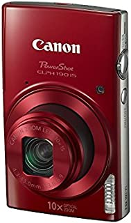"Canon PowerShot ELPH 190 IS 数码相机1087C001 仅摄像机 0.90""x3.80""x2.20"" 红色"