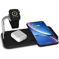 ZENS Qi 认证的无线铝制充电垫ZEDC05B/00  Für zwei Ger?te + eine Apple Watch 黑色