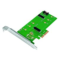 LogiLink SATA SSD 硬盘/固态硬盘机箱 / 外罩PC0083 2x M.2 zu SATA/PCIe