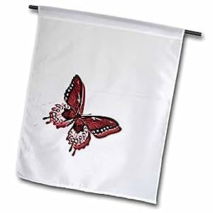 patricia sanders Creations–色彩 OF 红色蝴蝶艺术自然 Designs–旗帜 12 x 18 inch Garden Flag
