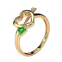 THERA提亚珠宝沙弗莱石戒指,天然沙弗莱石戒指,18K白金嵌钻天然铬钒钙铝榴石套戒RTGR-513