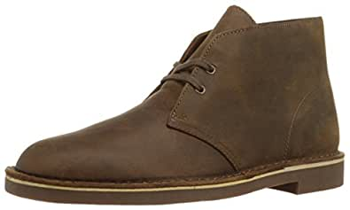 Clarks 男式的Bushacre 2沙漠靴 Beeswax Leather 7 M US