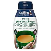 Kitchen Accomplice Organic Plant-Based Vegan No-Bone Broth Concentrate, 12 oz