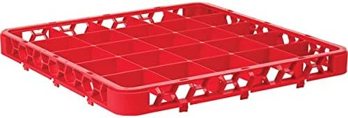 Carlisle RE25C05 OptiClean 25-Compartment Divided Glass Rack Extenders, Red