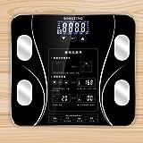 家用体重秤精准电子脂肪秤减肥体质分析仪健康体脂称智能减肥秤 (黑色)